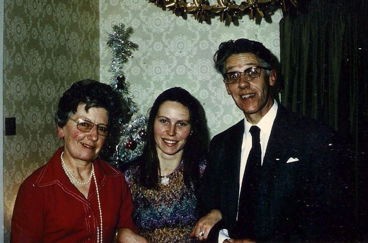 Mum, Dad & I, December 1974