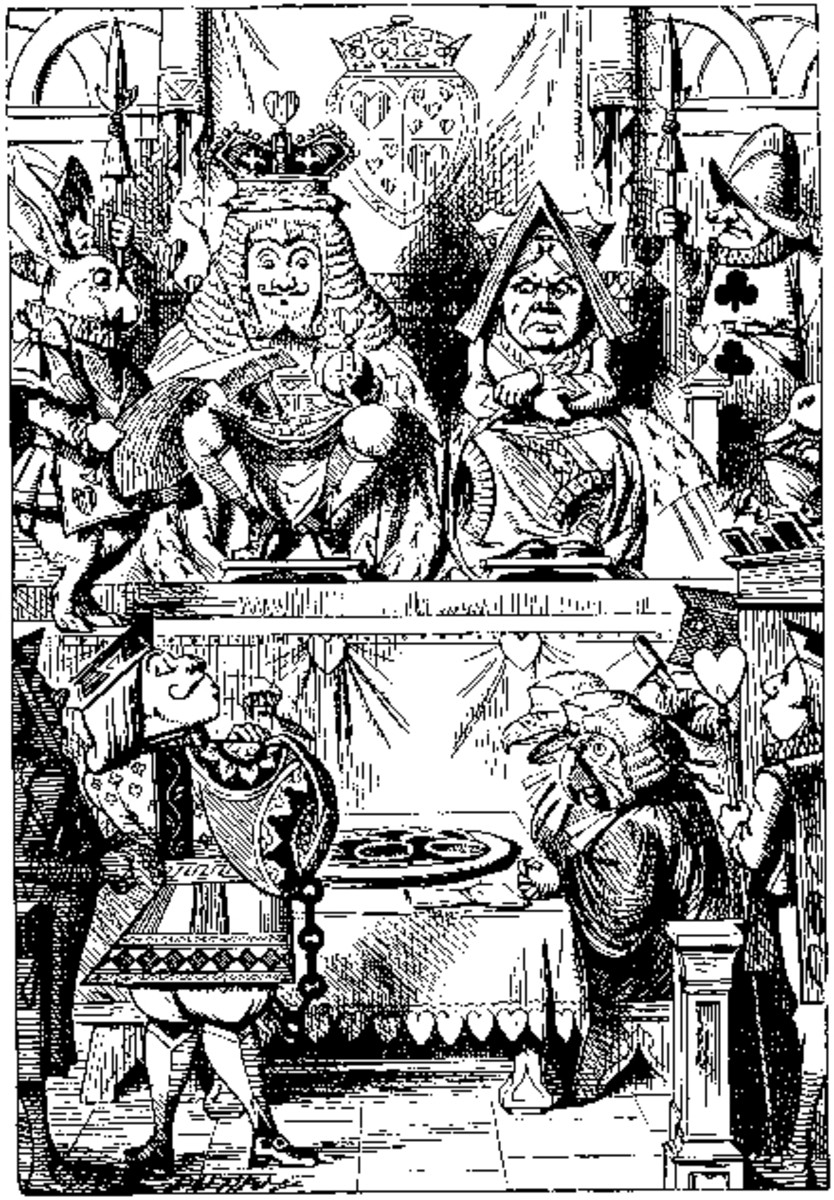 The Queen of Hearts 'Off with his Head!' from Lewis Carroll's 'Alice's Adventures in Wonderland'
