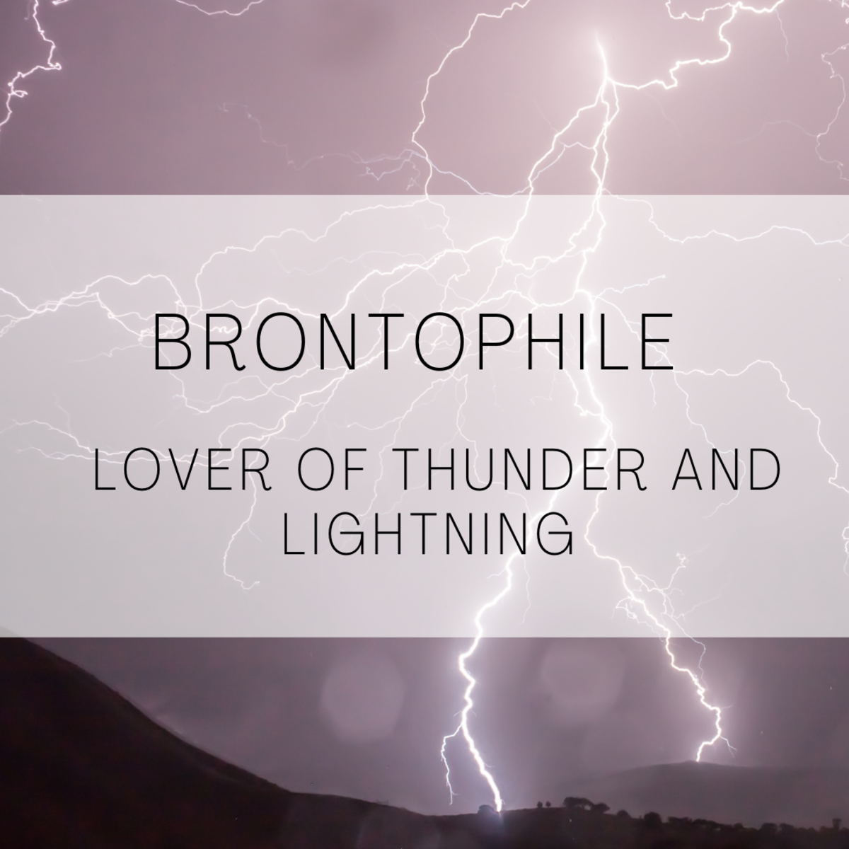 Brontophile, lover of thunder and lightning