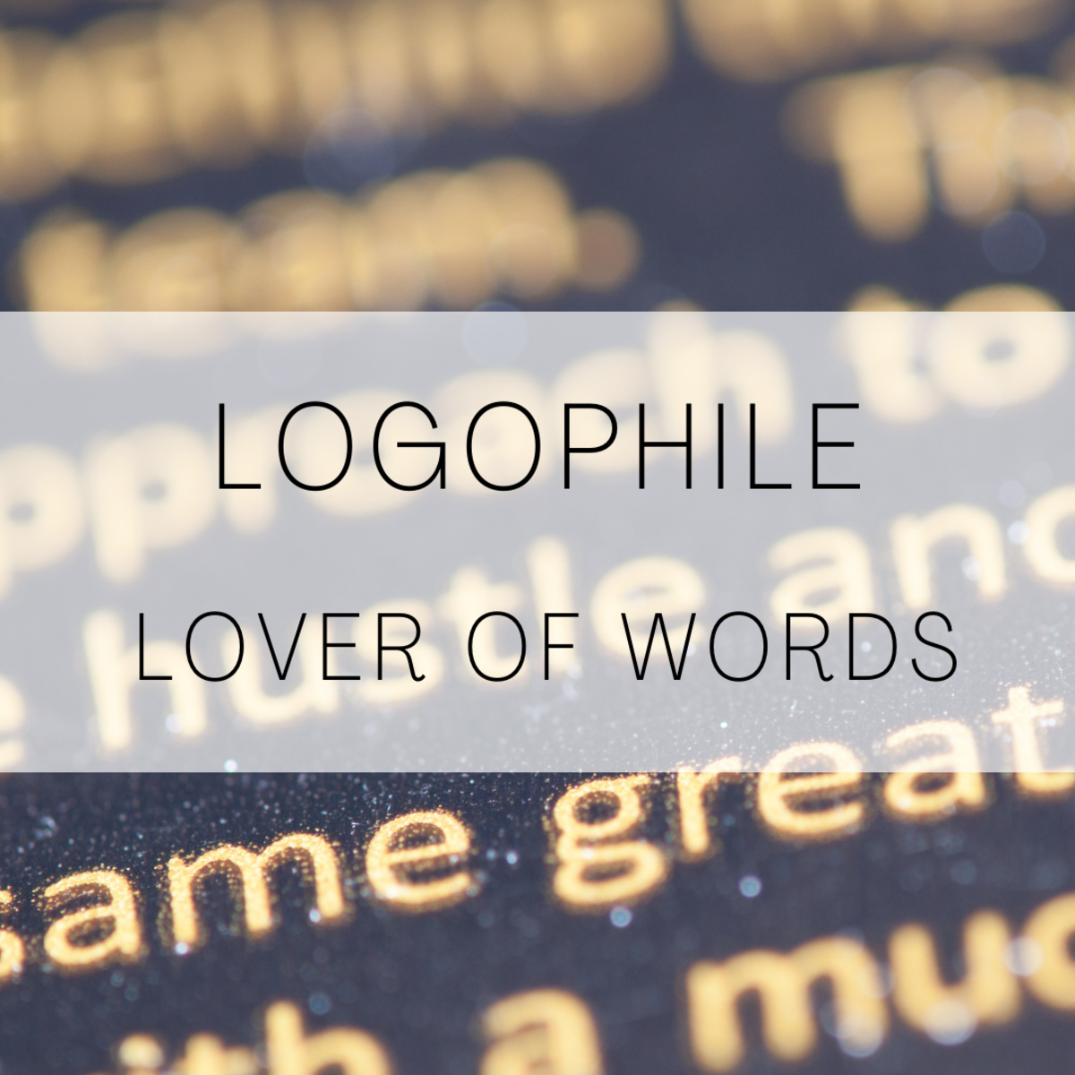 Logophile, a lover of words