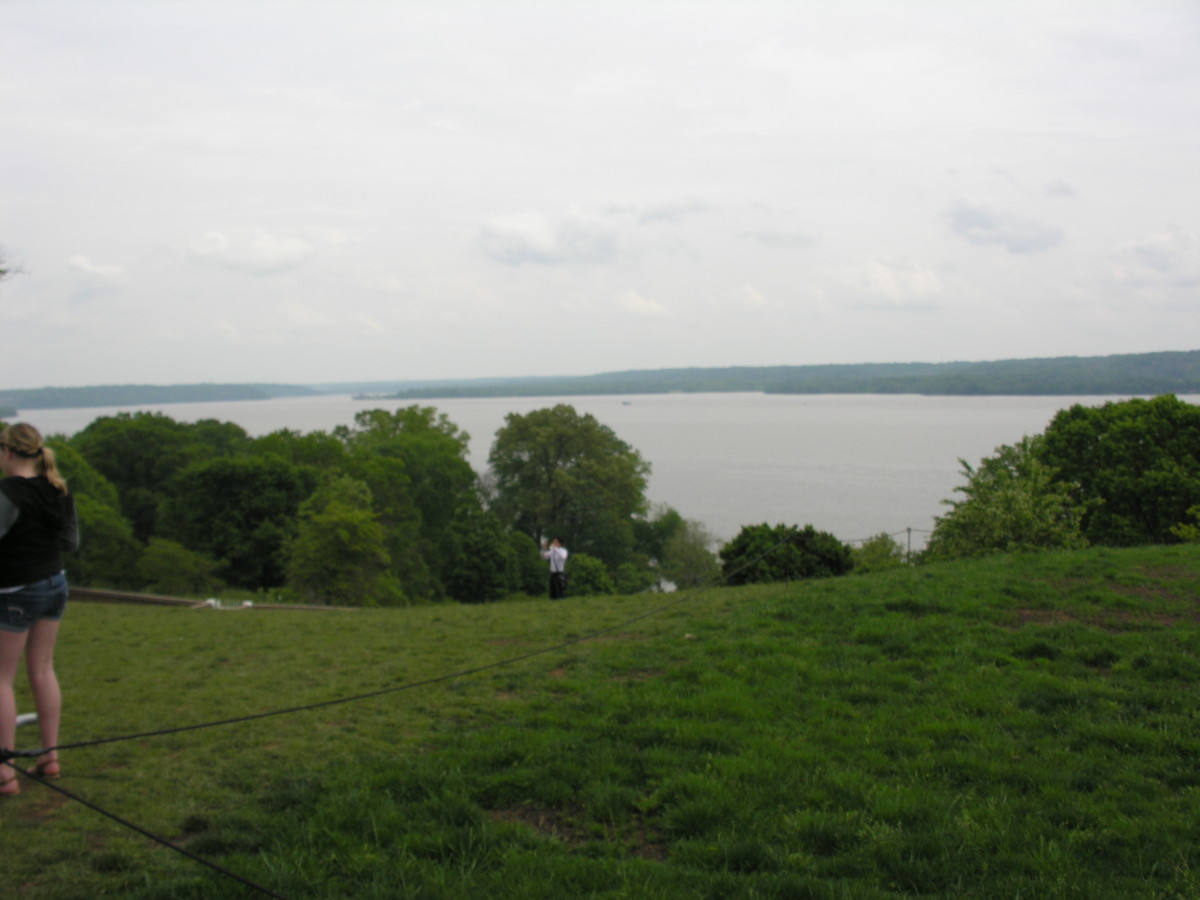 View of the Potomac From Mount Vernon. August 2013.
