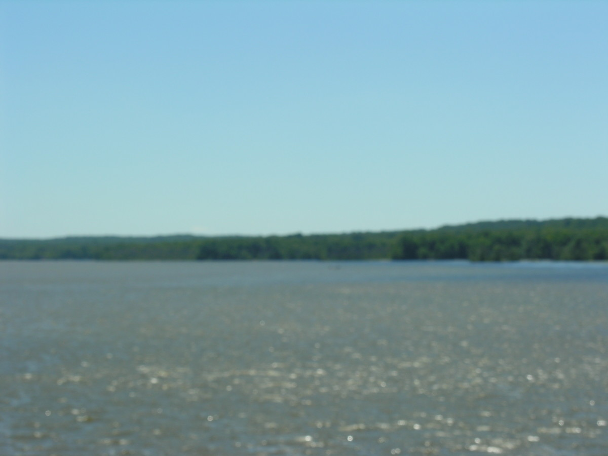 Mount Vernon from a cruise boat, July 2016.