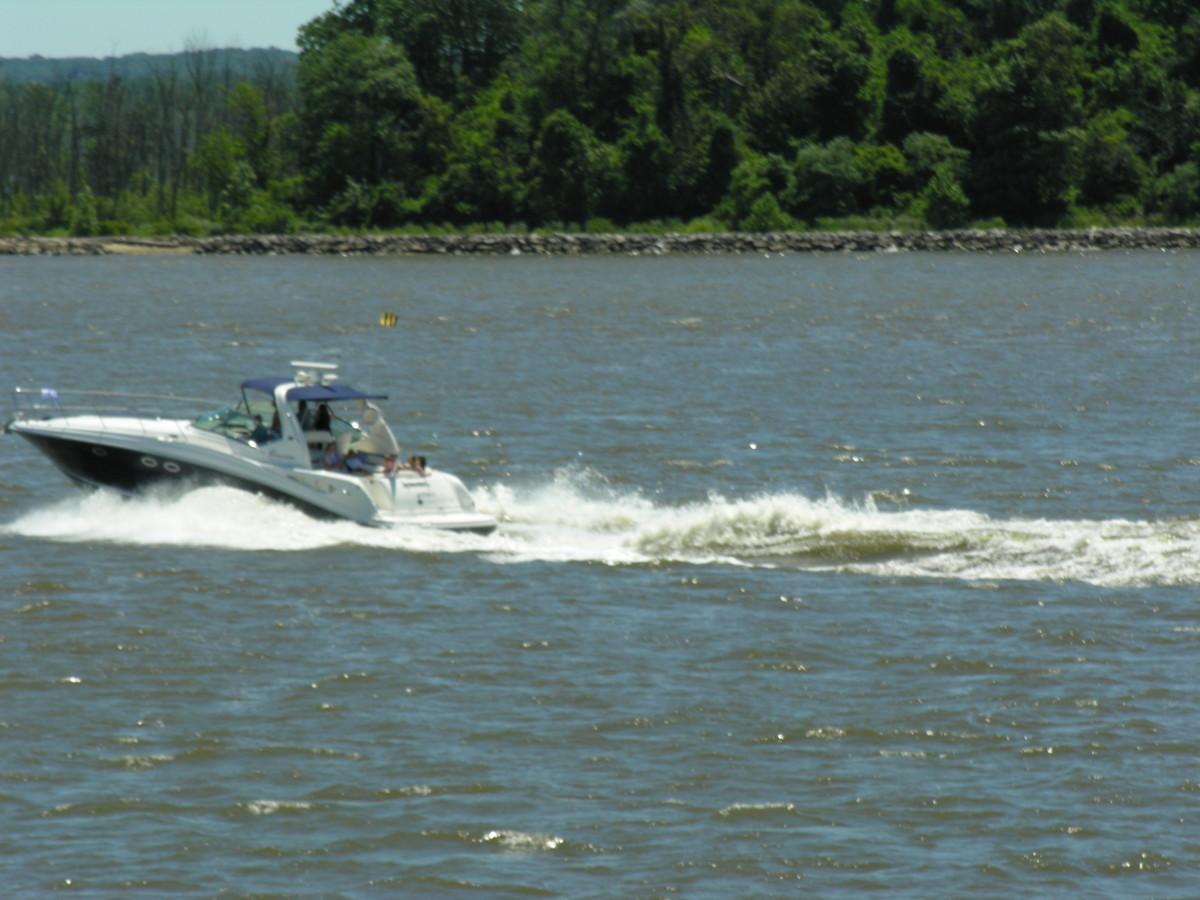 A boat on the Potomac, July 2016.
