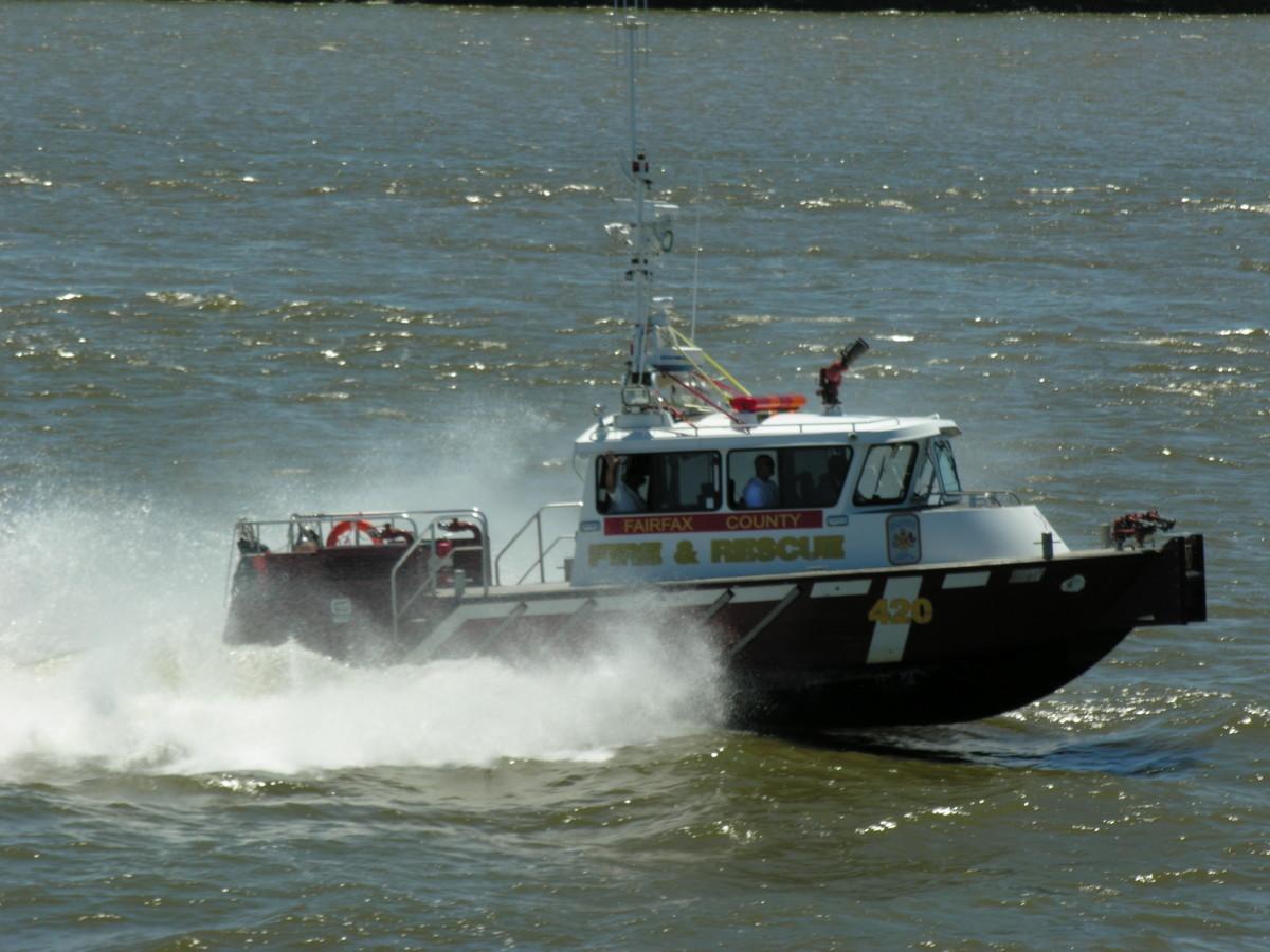 A patrol boat on the Potomac, July 2016.