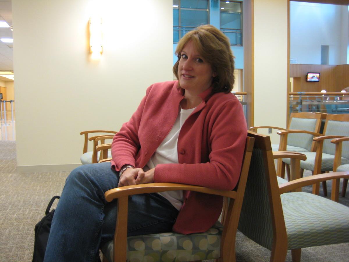 Anxiously awaiting surgery. September 2008.
