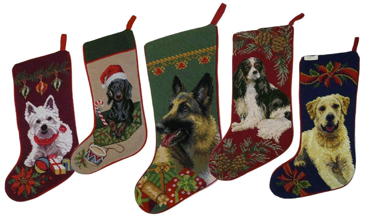 Christmas Stockings (and Stocking Stuffers) for Dogs Have Their Own Page. You'll find it at