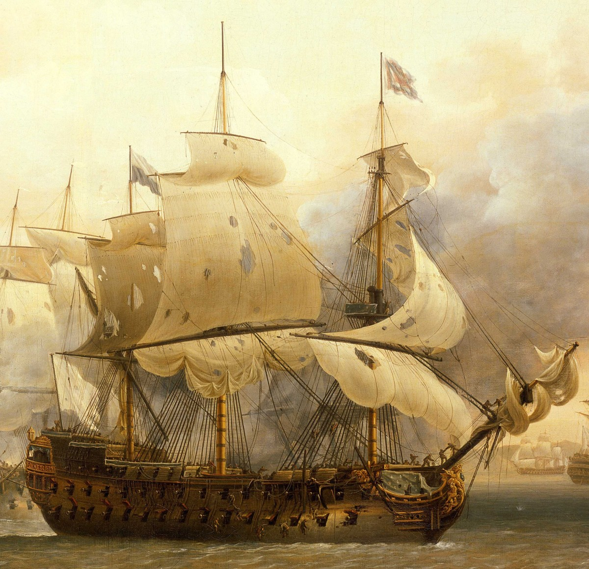 The French 80 gun ship of the line Saint-Esprit - First rate warships would have been even larger