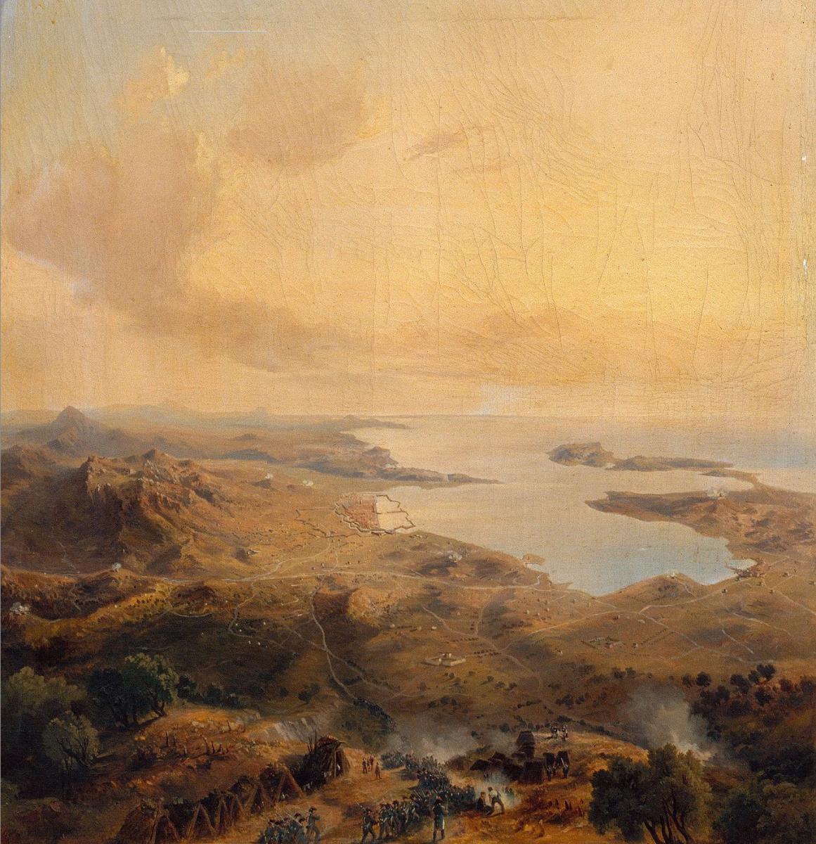 Toulon under siege in 1793