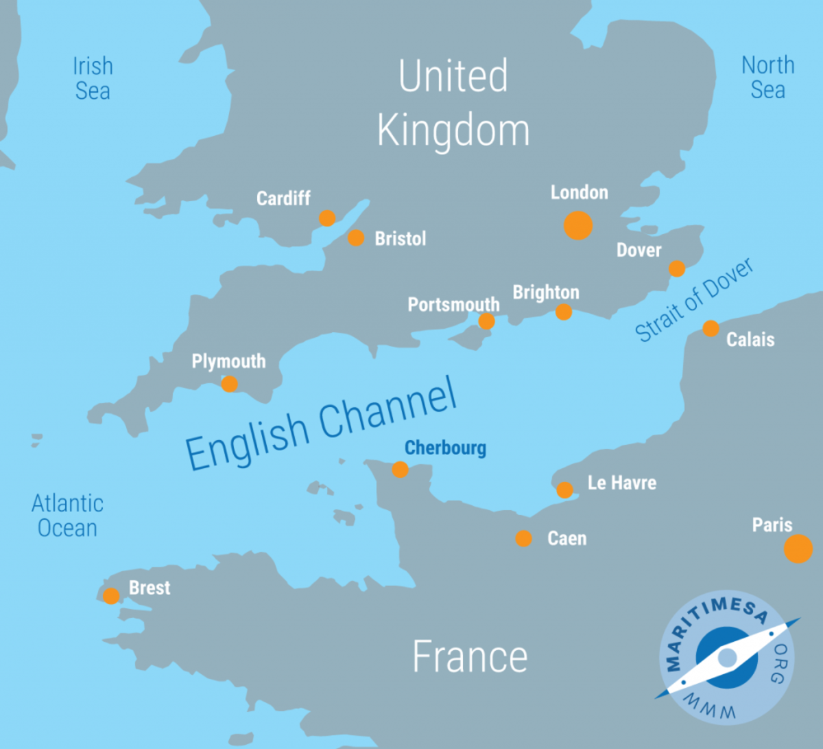 The lack of naval ports in France, as neither Cherbourg, nor Dunkirk, nor Caen, nor Le Havre were sufficiently developed or even built in the 18th century, posed a severe problem for the French navy's operation in the Channel.