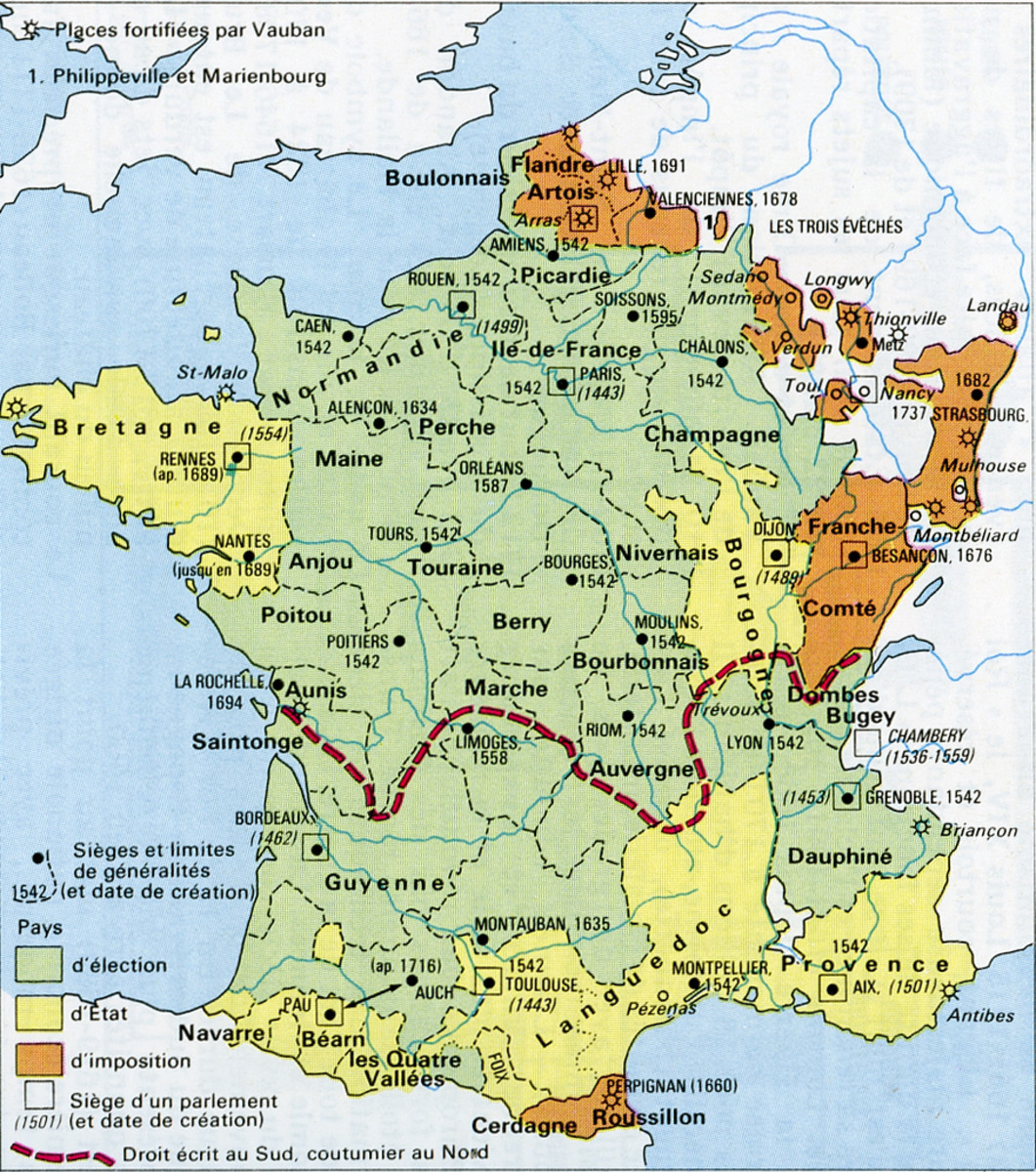 France at the beginning of the 18th century. The naval geography problem of France, in its division into Atlantic and Mediterranean shores, is one which would never go away.