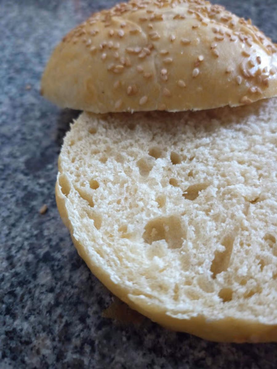 Soft, light, fluffy, and tasty sourdough burger buns