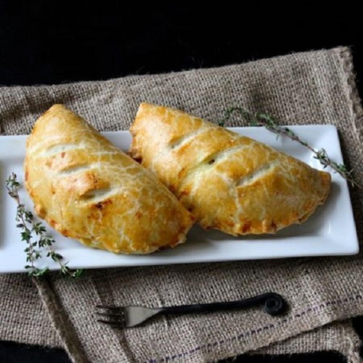 Chicken and leek pasties