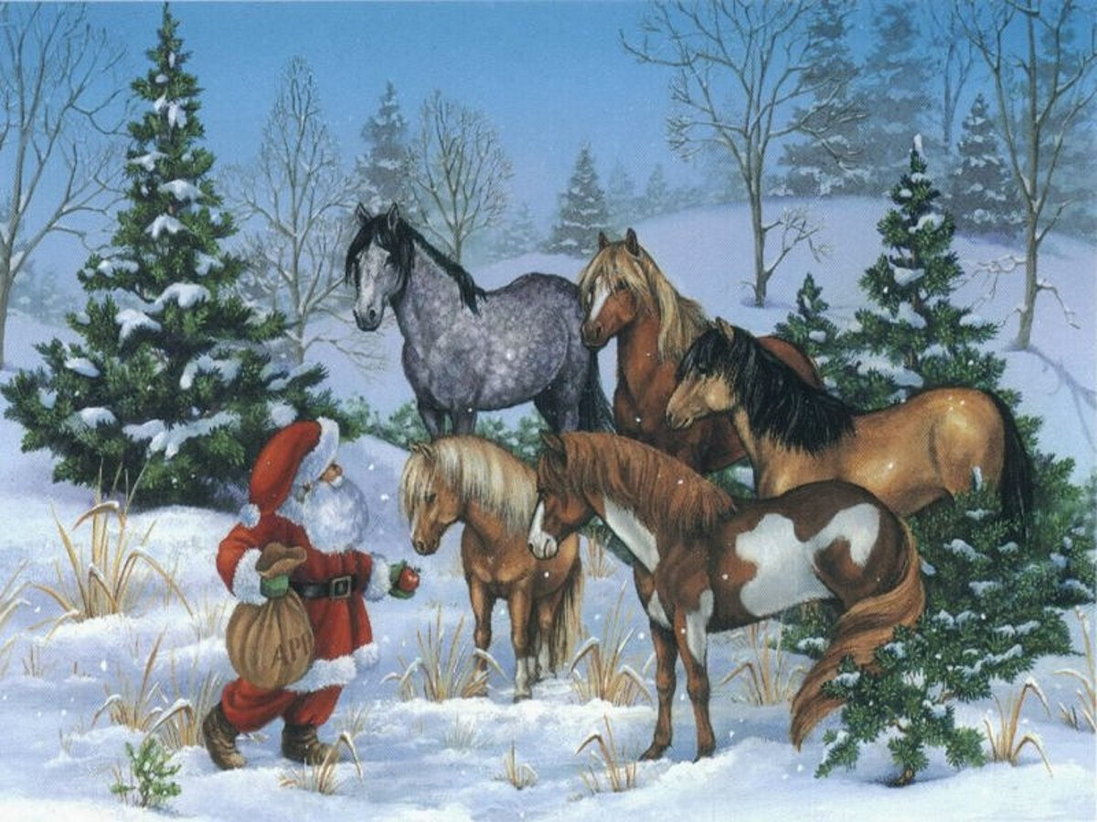 Christmas and Horse Wallpapers