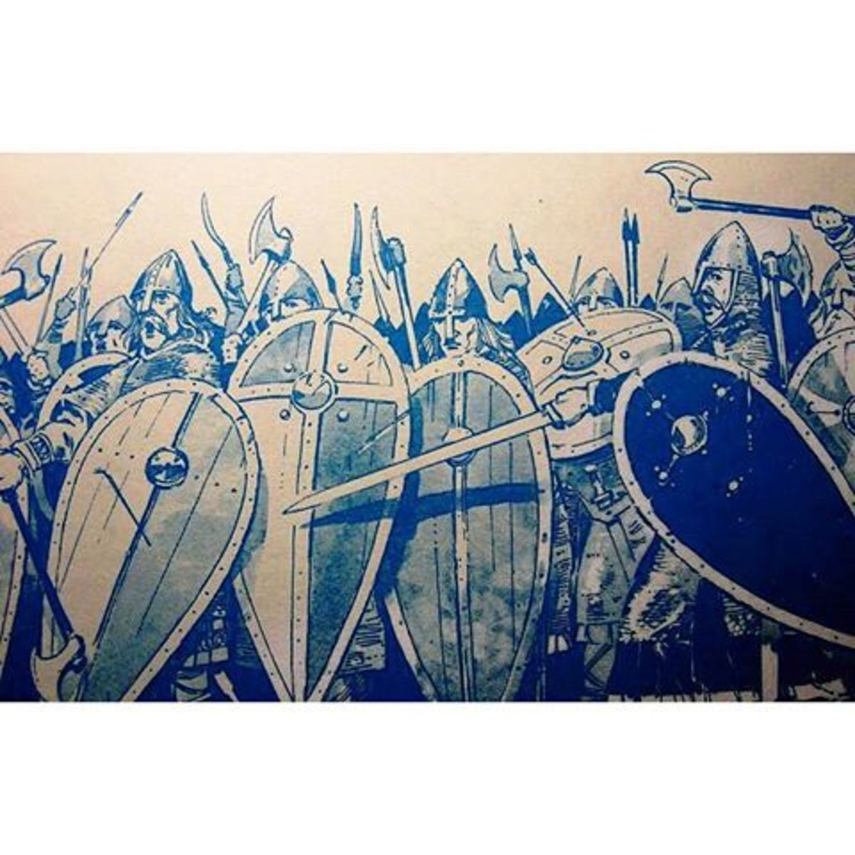 Earl Gyrth rallies his men on Caldec Hill, Saturday October 14th, 1066
