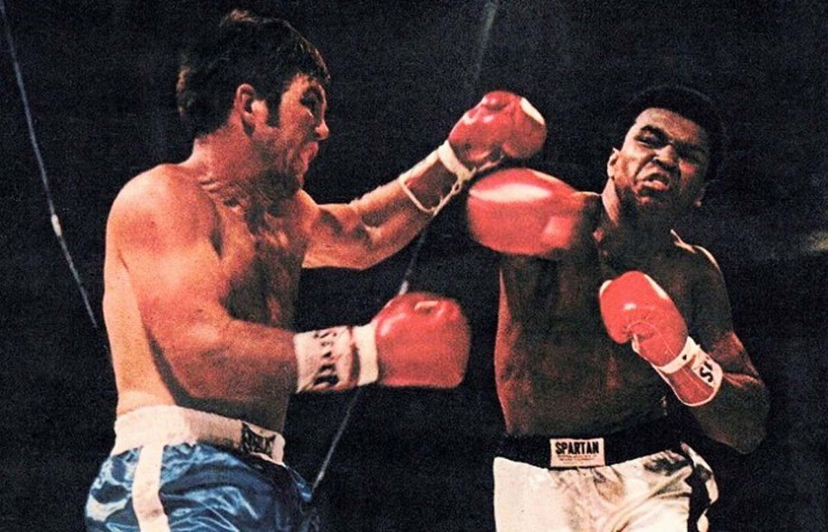 A game fighter in Jerry Quarry who would be no match for Ali. The fight ended in 3 Rounds.