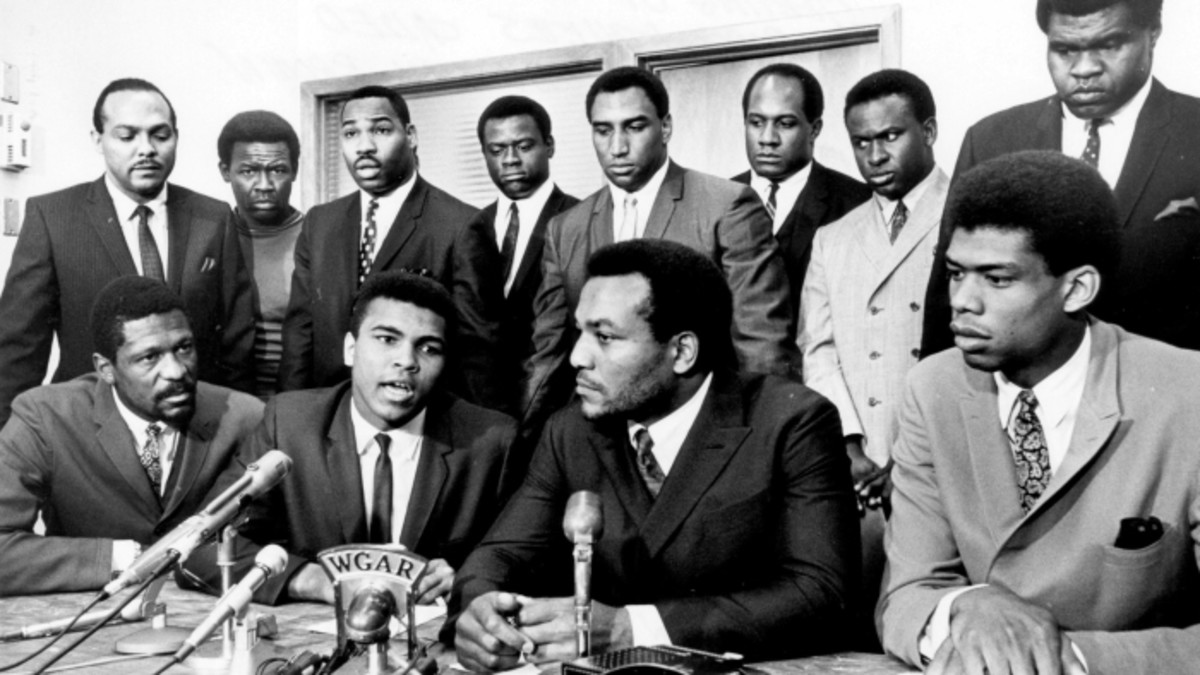 Jim Brown led a coalition of Black athletes in support of Ali and Civil Rights