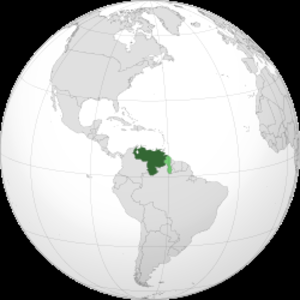 Map showing Venezuela