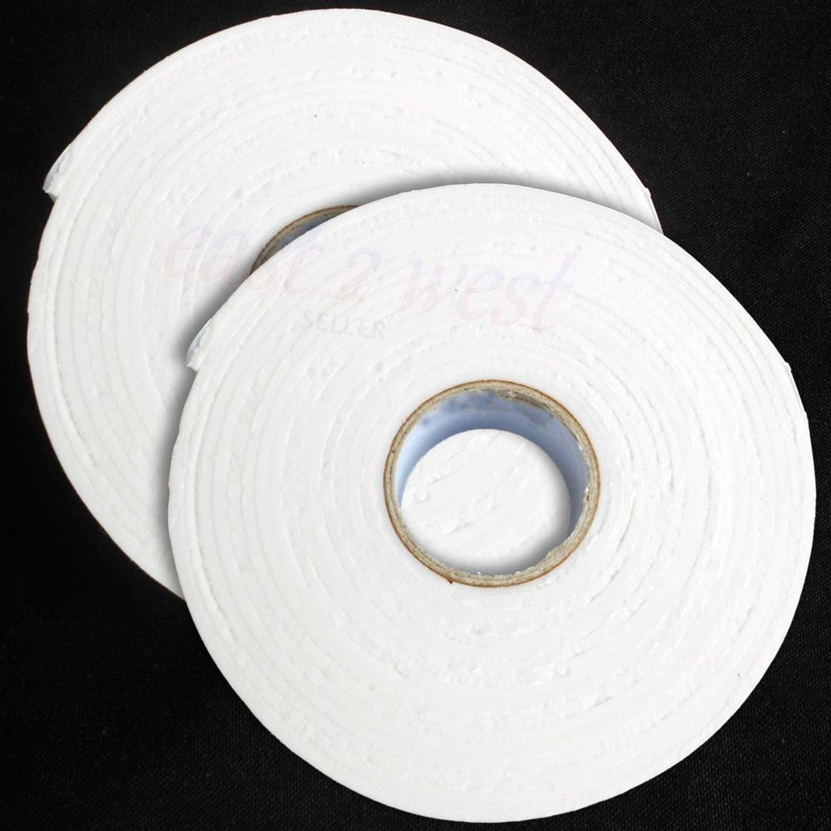 Foam mounting tape comes in a roll and has different widths and lengths