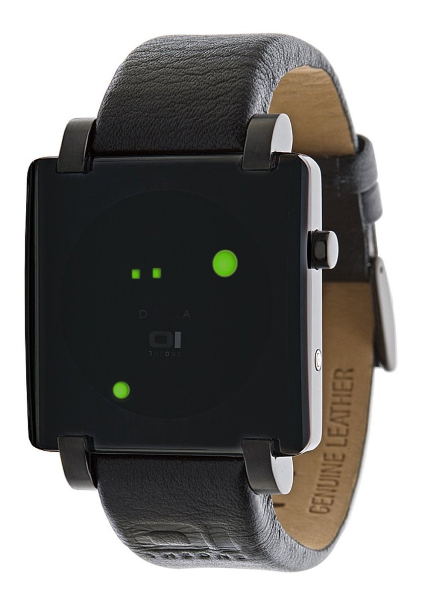 Gamma Ray Square Green LED Gun-Metal Watch by 1he One.