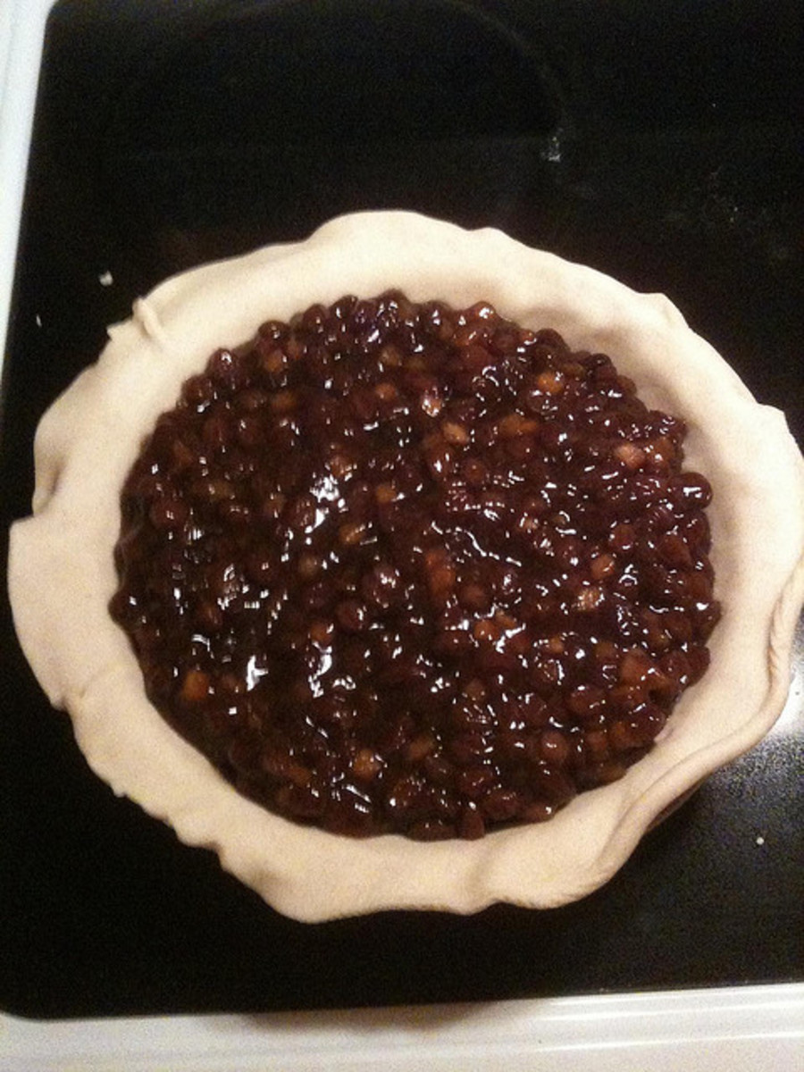 Pour Your Mincemeat into the Bottom of Your Pie Crust