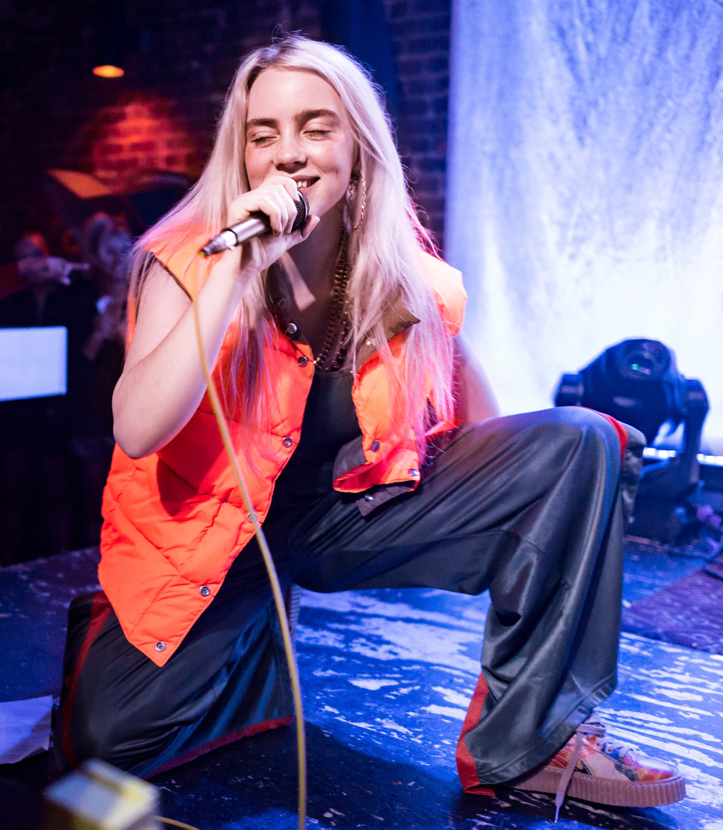 Billie Eilish performing live at The Hi Hat in Highland Park, Los Angeles, California, on Thursday, August 10, 2017.