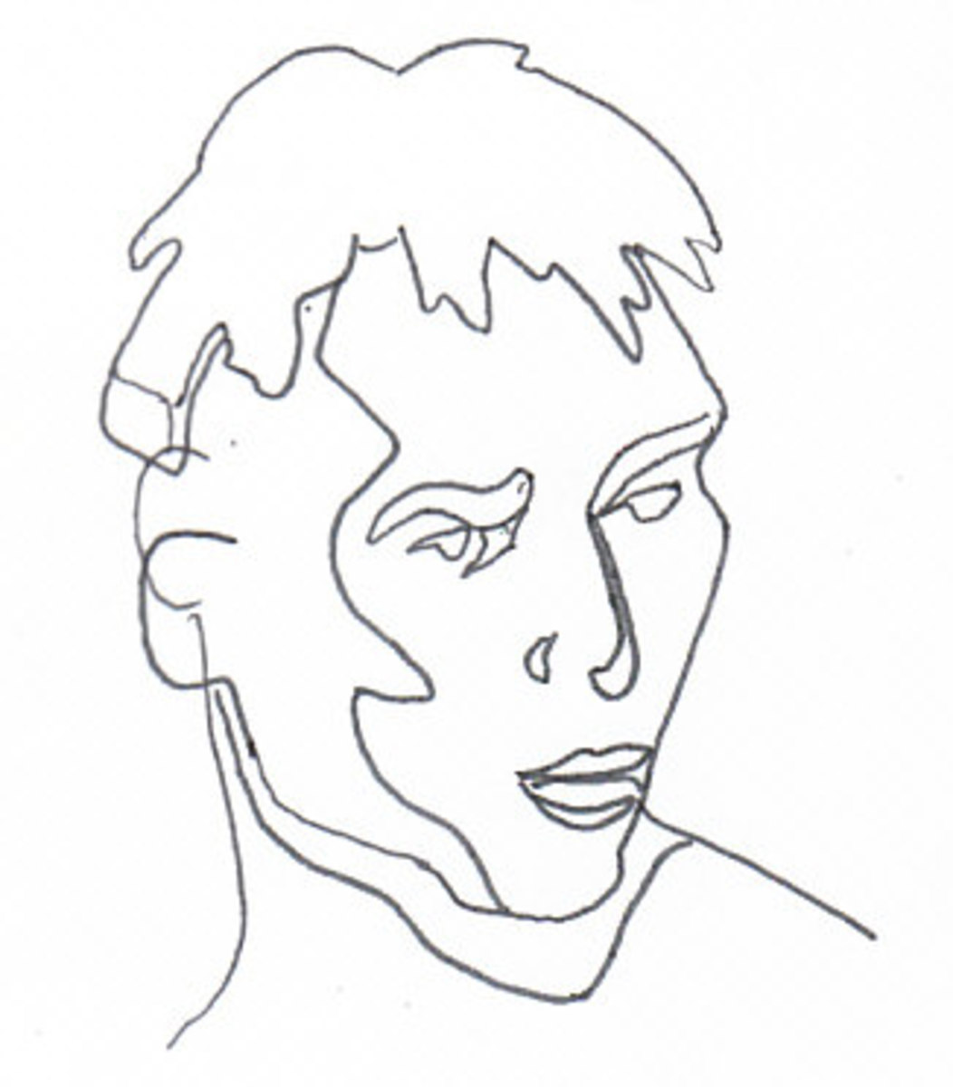Contour Line Drawing Of A Person : How to paint a gift portrait