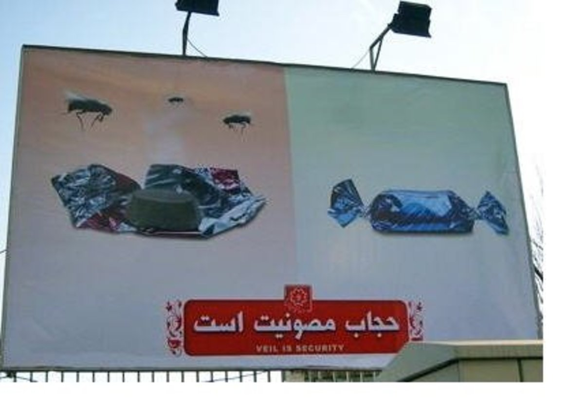 Iran has billboards trying to get women to comply