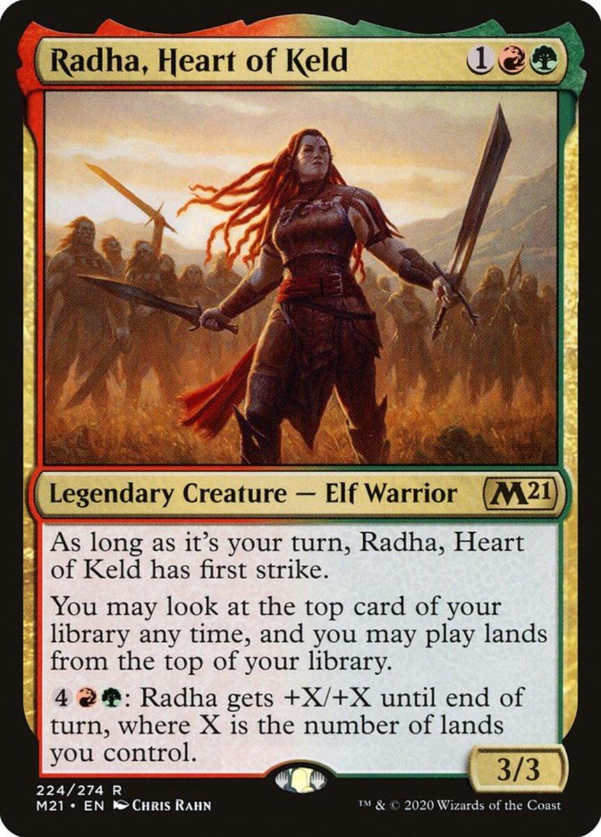 Radha, Heart of Keld mtg