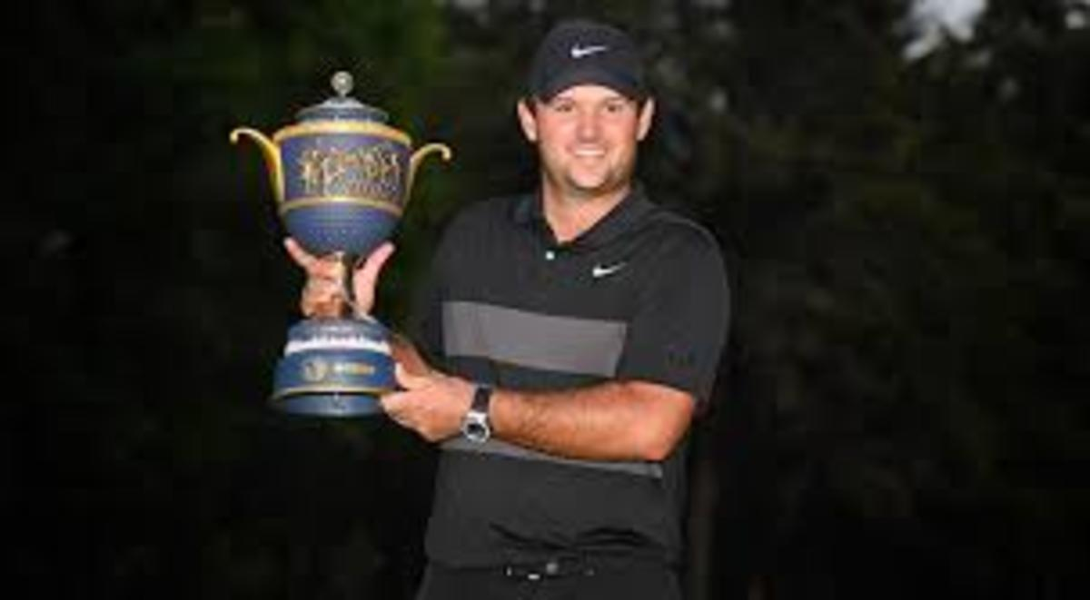 Patrick Reed with WGC Mexico Championship Trophy Before COVID