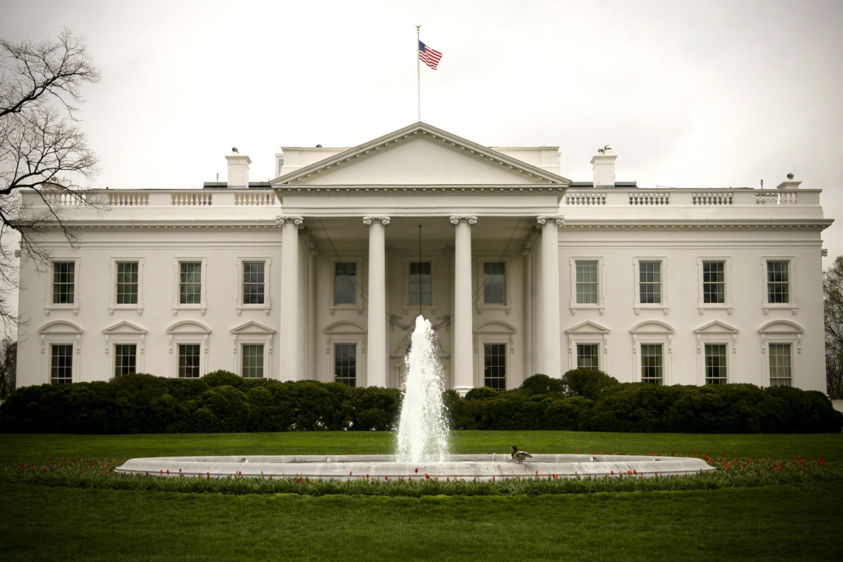 A View of the White House from the North Lawn