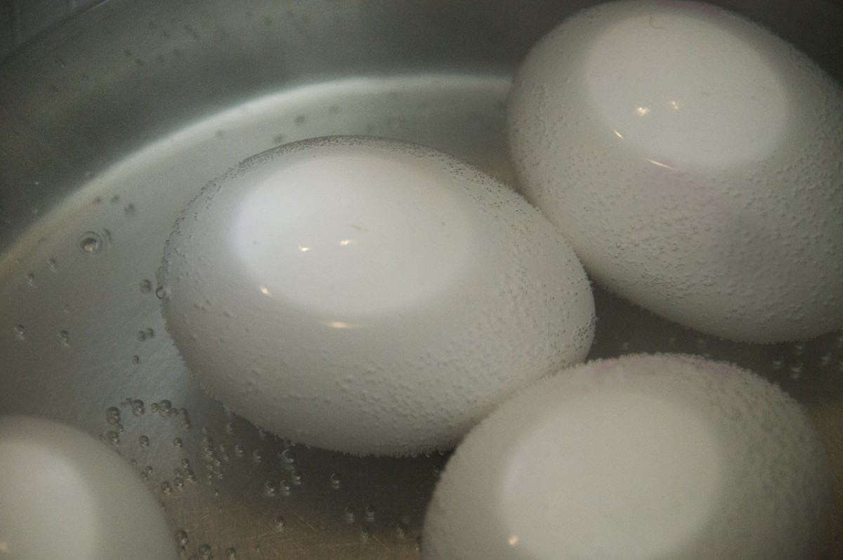Eggs in Hot Water