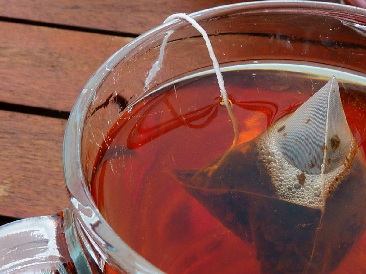 Tea Bag in Hot Water