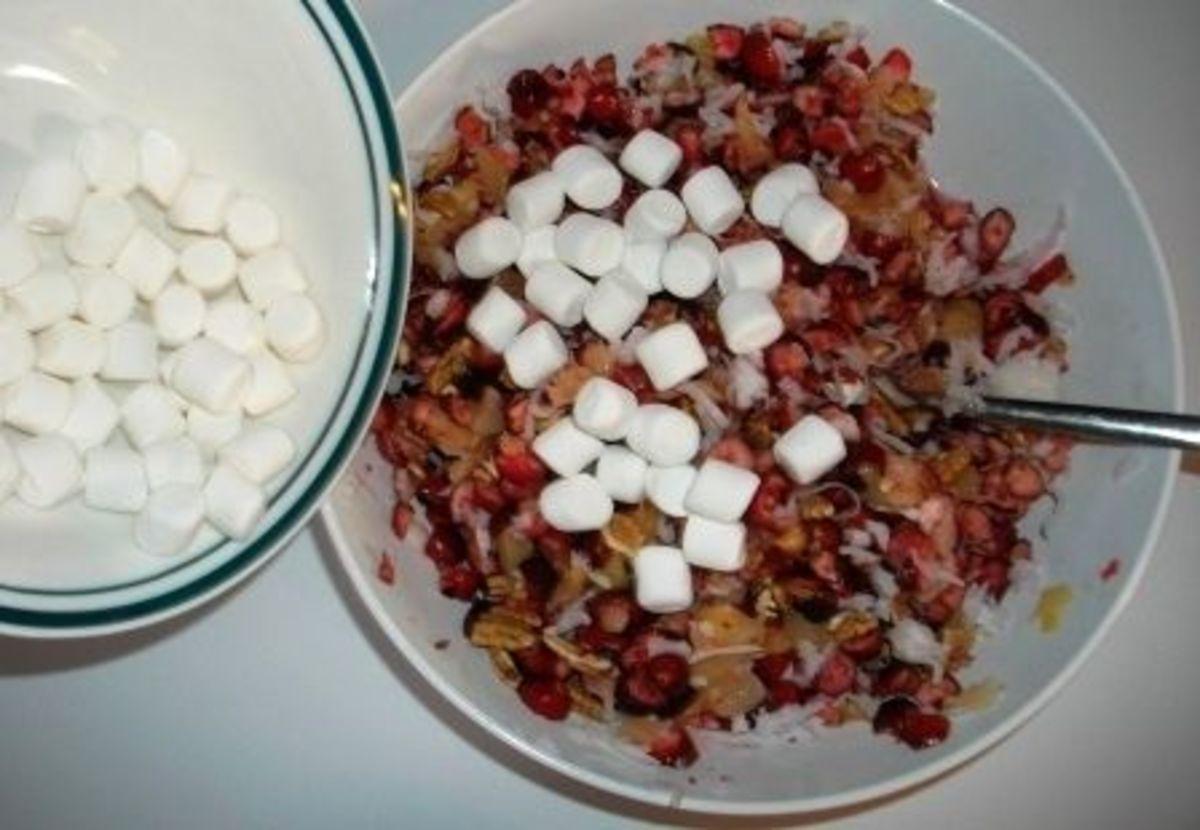 Add 2/3 cup of mini marshmallows