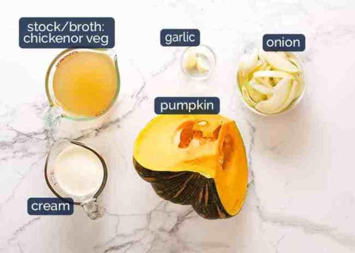 Pumpkin and/or butternut squash. Savory makes the pumpkin soup tasty with nutmeg, shiitake mushrooms, sage, onion and garlic.