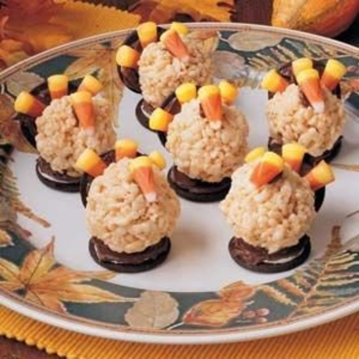 Rice Krispie Treat Turkeys