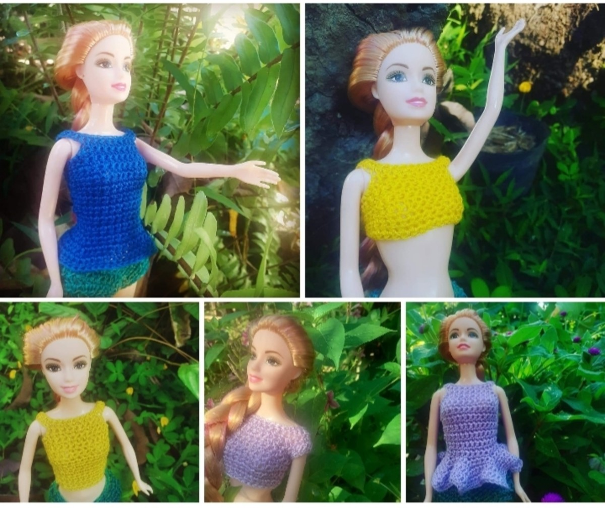 Crochet Doll Tops