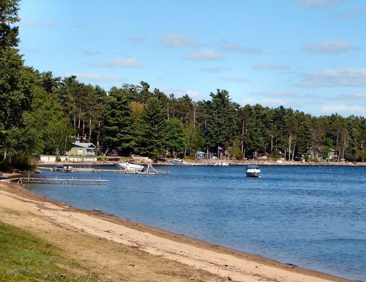 Norway Bay Beach, part of Bristol municipality, Outaouais, Quebec