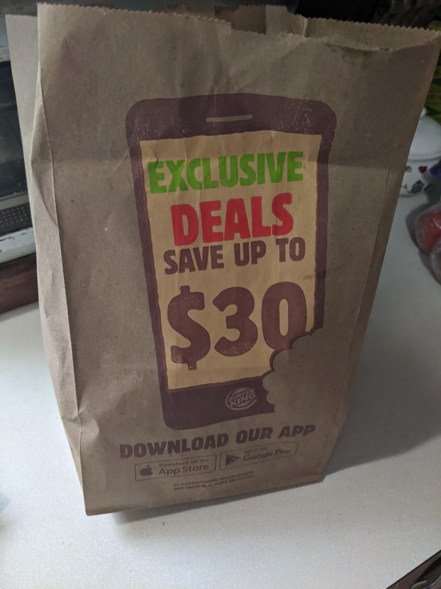 Ads on bag