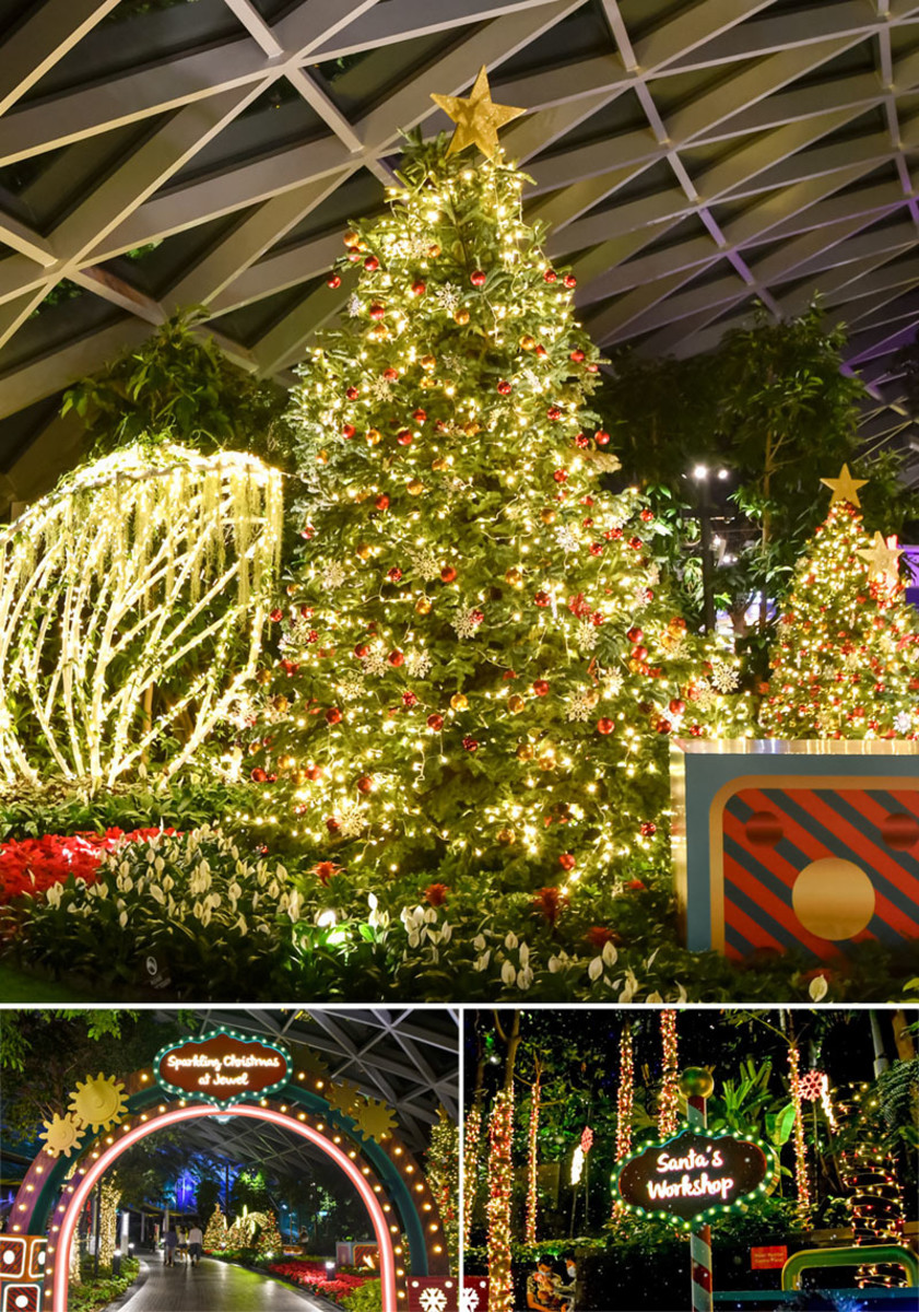 2020 Christmas decorations at the Canopy Park and Shiseido Forest Valley.