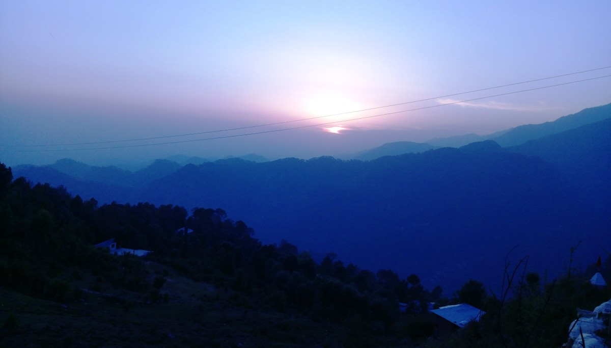Sunset - at Dharmashala, Himachal Pradesh, India .... by Vanita Thakkar