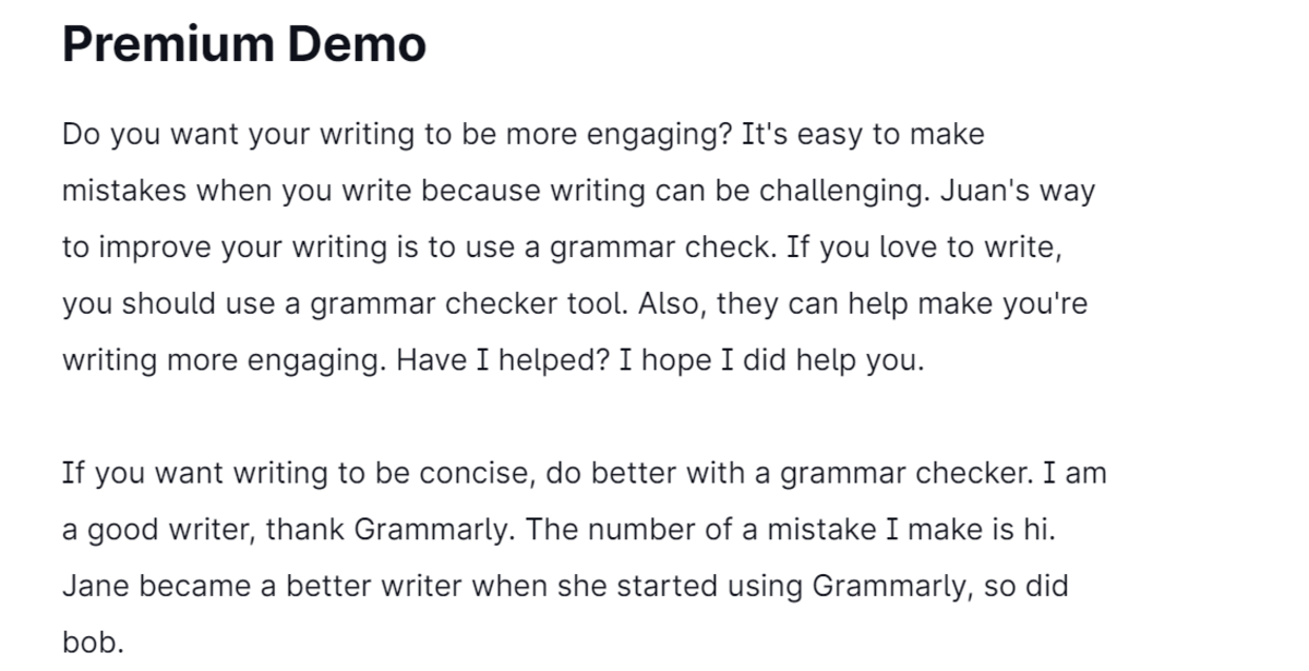 My fully corrected text on Grammarly still has several mistakes