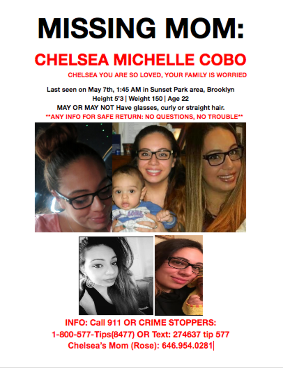 Missing Person poster for Chelsea