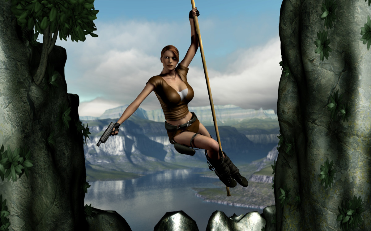 A tribute to Lara Croft and the Tomb Raider franchise.