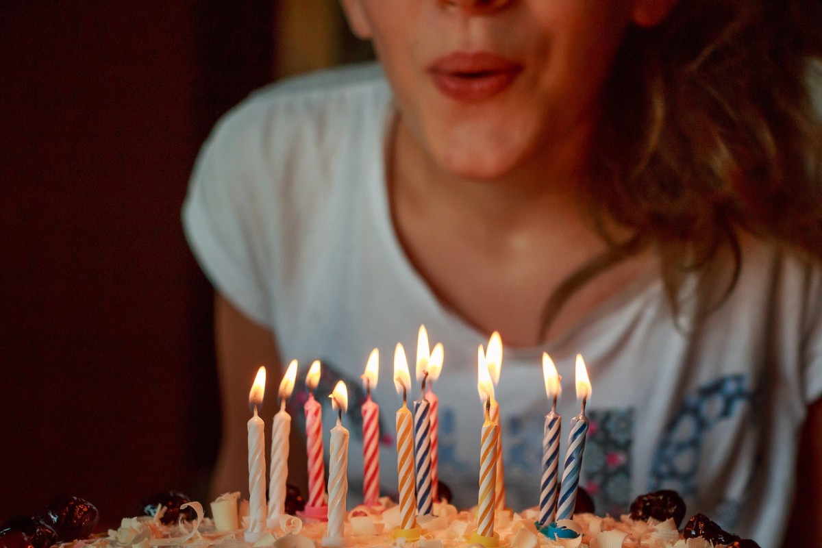 Blow out the birthday candles.