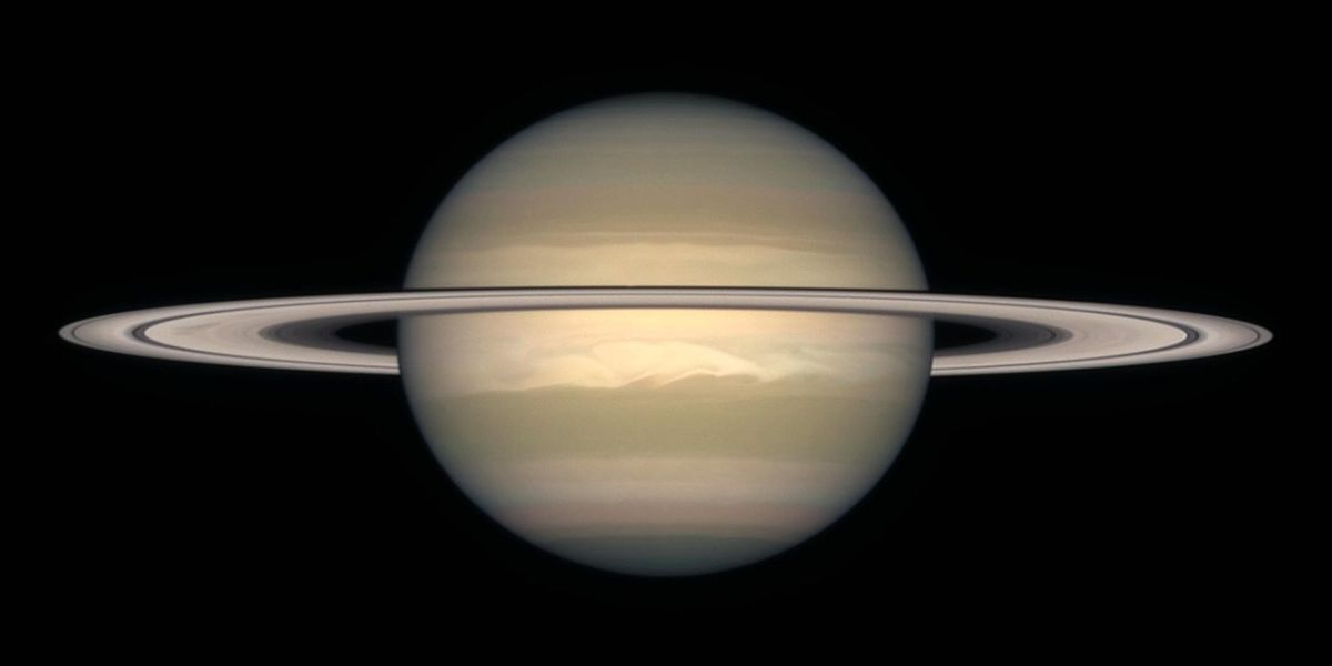 Saturn: much lighter than it looks