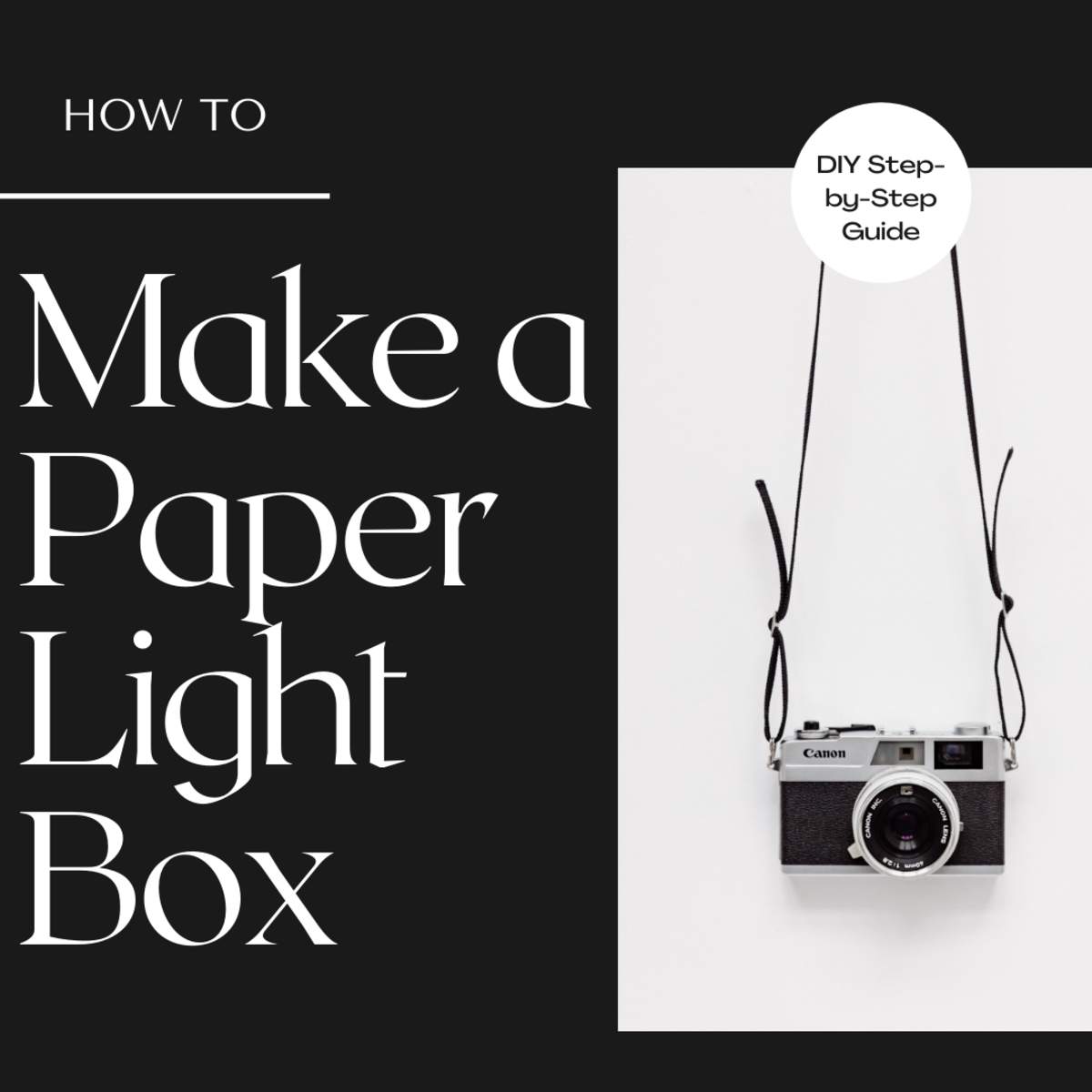 How to Make a Light Box With Paper (DIY Photography)
