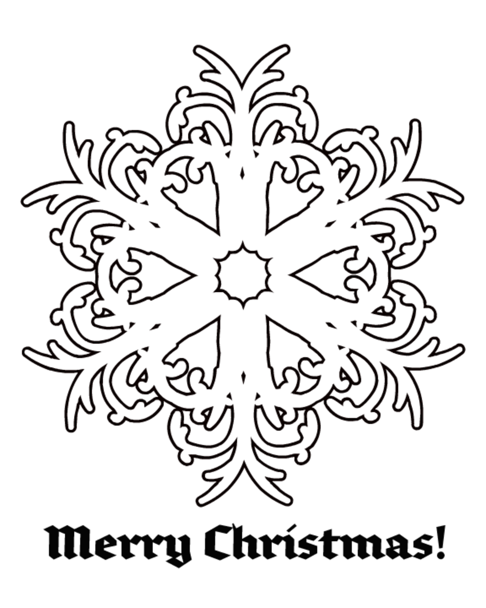Snowflake Christmas coloring page