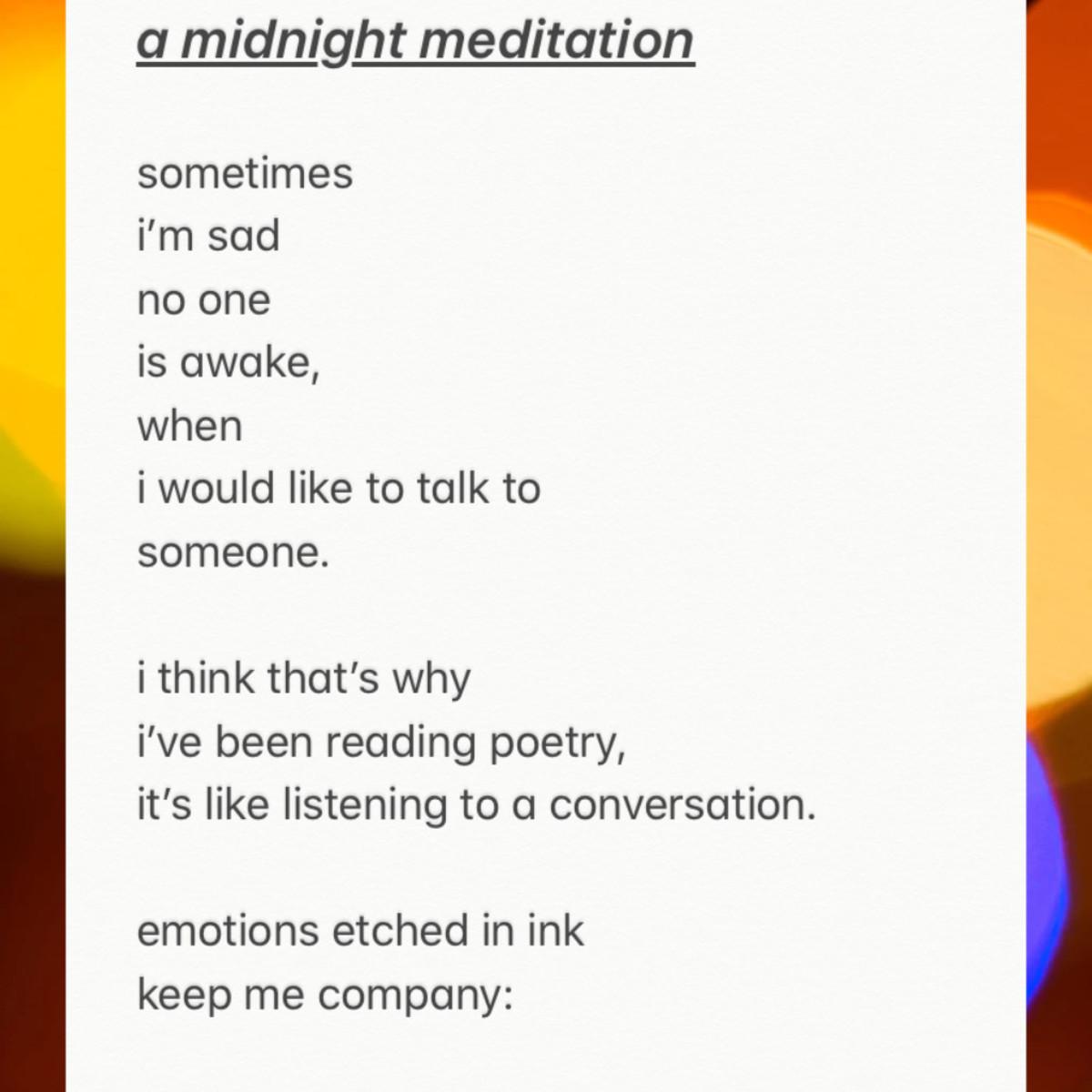 A Midnight Meditation
