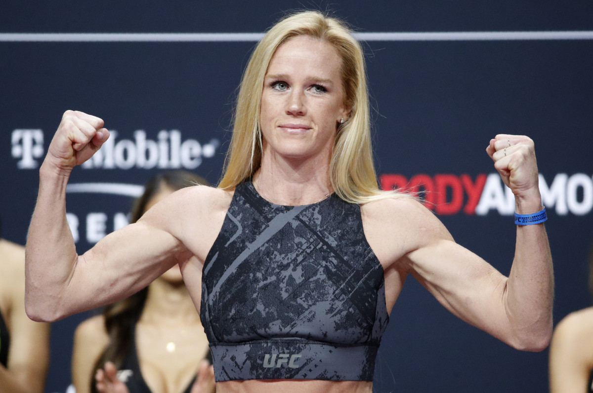 Holly Holm at her UFC 246 weigh-in.