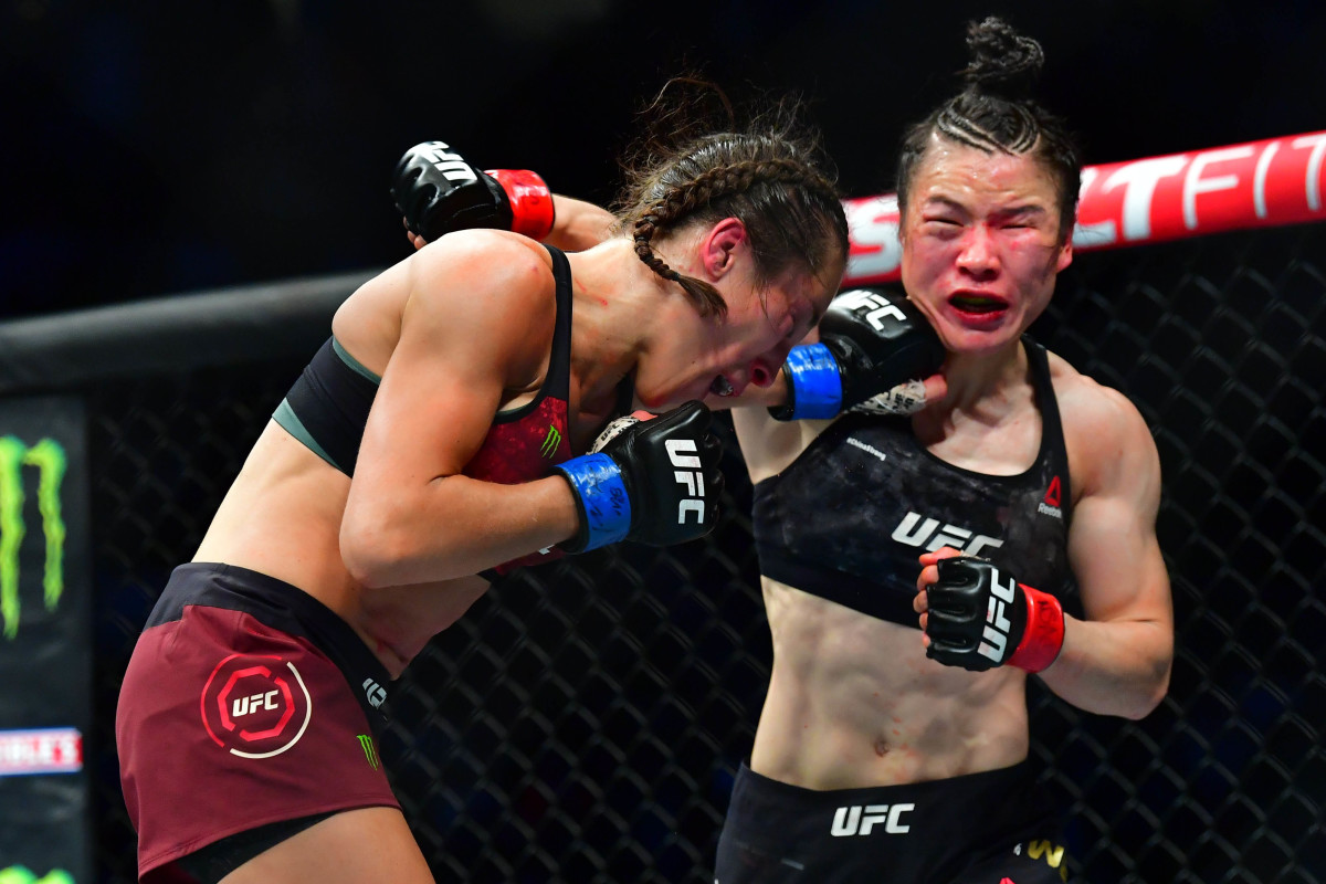 Zhang Weili at her UFC 248 bout against Joanna Jedrzejczyk.